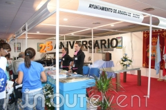 25 aniversario de FIDUERO, stand del ayuntamiento de Aranda de Duero