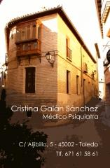 Cristina gal�n s�nchez, psiquiatra - c/ aljibillo, 5 toledo