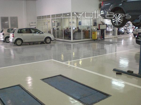 Dscolor s l pavimentos de resina epoxi y poliuretano - Pintura para suelos de garajes ...