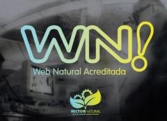 Distintivo de web natural acredita wn! para garant�a y calidad de las webs de nuestros miembros.