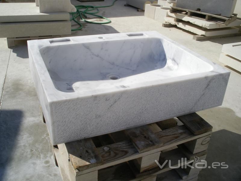 Foto pila para cocina en m rmol de carrara - Fregaderos de granito para cocina ...