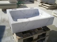 Pila para cocina en mármol de carrara