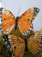 Mariposas artificiales, con alambre, para decorar lo que t� quieras, en nuestra tienda online.