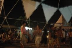 Domo estructuras ,en el rototom la carpa domo  se uso de pista de baile �dub staion