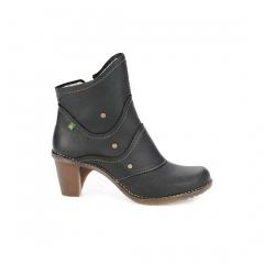 El naturalista-zapatos c�modos mujer- duna 504- bota de tac�n con cremallera lateral.