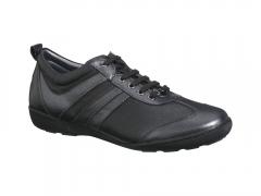 Xsensible-zapatos cómodos mujer-argentera low-zapato elástico con cordones.