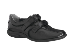 Xsensible-zapatos cómodos mujer-caracas-zapato elástico con velcros.