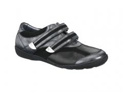 Xsensible-zapatos cómodos mujer-crassula-zapato elástico con velcros.