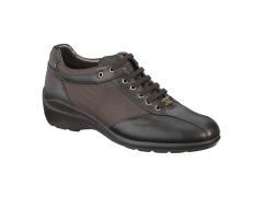Xsensible-zapatos cómodos mujer-sedna lace-zapato elástico con cordones.