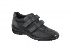 Xsensible-zapatos cómodos mujer-sedna velcro-zapato elástico con velcros.