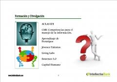 FORMACION Y DIVULGACION EN INTELLECTIA BANK
