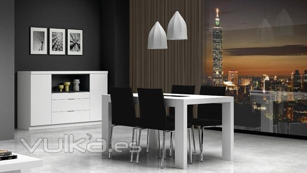Vulka Muebles : Foto mesa y aparador del catalogo eli de muebles salon
