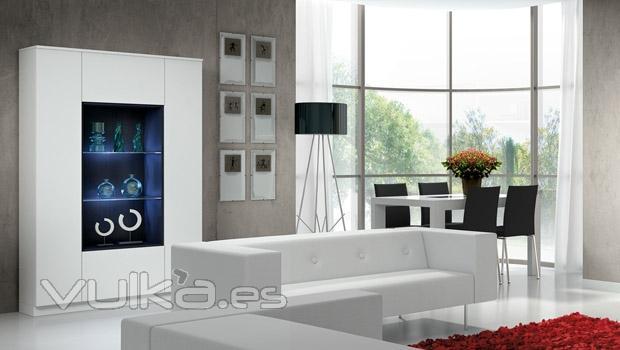 Foto muebles de salon comedor en blanco del catalogo eli - Muebles de comedor en blanco ...