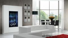 Muebles de salon comedor en blanco del catalogo eli