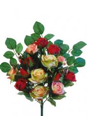 Ramos flores artificiales santos. ramo rosas artificiales rojo oasisdecor.com