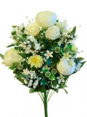 Ramos flores artificiales santos. ramo peonias y capullos artificiales crema oasisdecor.com