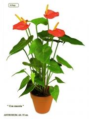 Plantas artificiales de calidad. anthurium artificial con maceta oasisdecor.com
