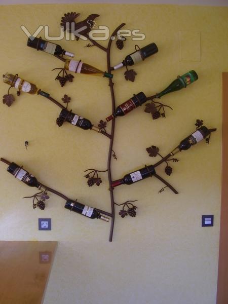 Foto botellero de forja para pared a euros iva - Botellero de pared ...