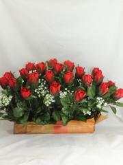 Flores artificiales cementerio. jardinera cementerio capullos rosas artificiales oasisdecor.com