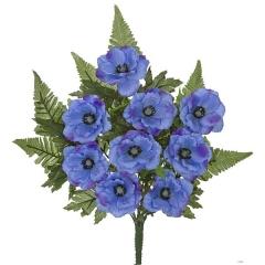 Todos los santos. ramo artificial de flores anemonas azules en lallimona.com