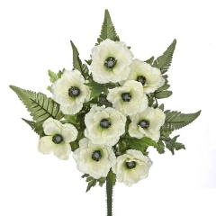 Todos los santos. ramo artificial de flores anemonas crema en lallimona.com