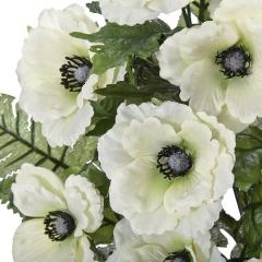 Todos los santos. ramo artificial de flores anemonas crema en lallimona.com (detalle 1)