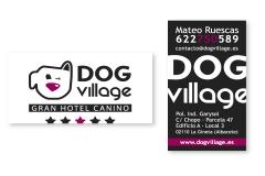 Diseño Imagen Corporativa, Tarjetas de Visita y Decoración del Local Dog Village Gran Hotel Canino