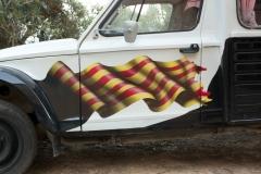 Detalle bandera catalunya dyane 400