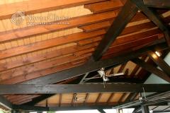 Estructura de madera para cubierta en duo tono