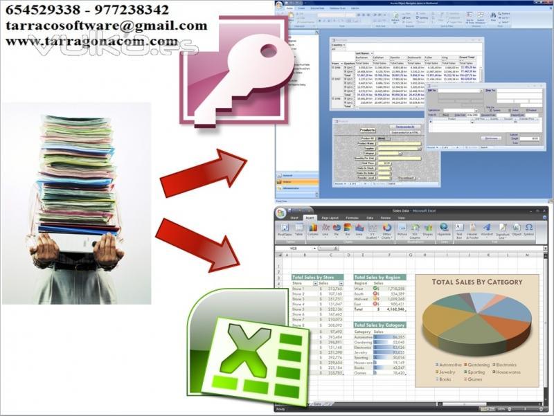 Confección y mantenimiento de bases de datos y hojas de cálculo