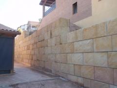 Muro de contenci�n por gravedad