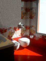 Ba�o: detalle de azulejo decorativo