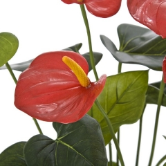 Plantas artificiales con flores. planta artificial anthurium rojo con maceta en lallimona.com (1)
