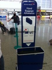 probador de maletas british