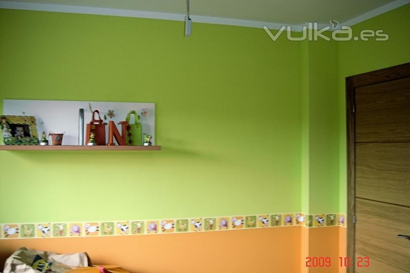 Foto pintura en dormitorio infantil - Pintura para dormitorios infantiles ...