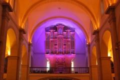 Realizacion de iluminacion arquitectural por led, en el nuevo organo de la Basilica de Cieza