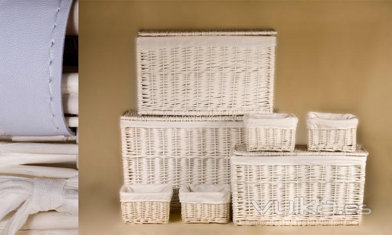 Foto baules de mimbre y contenedores - Baules de mimbre ...
