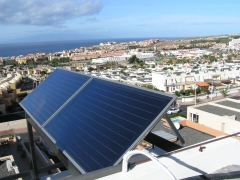 Energ�a solar para agua caliente