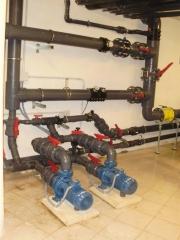 Sala de m�quinas climatizaci�n de piscinas en hoteles