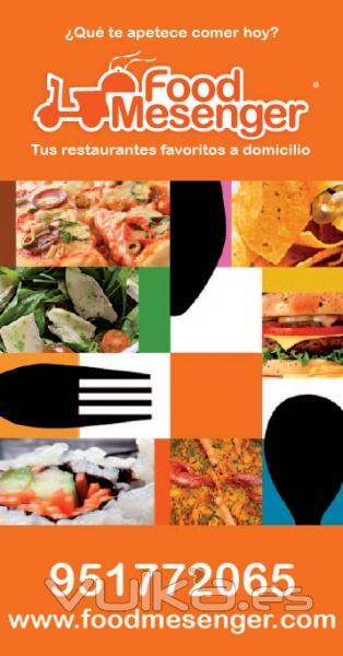 Catálogo de restaurantes a domicilio, Málaga Octubre 2011