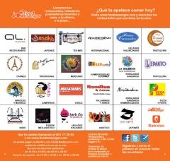 Tus restaurantes favoritos a domiclio, puedes descargar el catalogo en www.foodmesenger.com