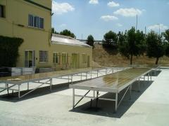 Mesas con bandeja de inundaci�n