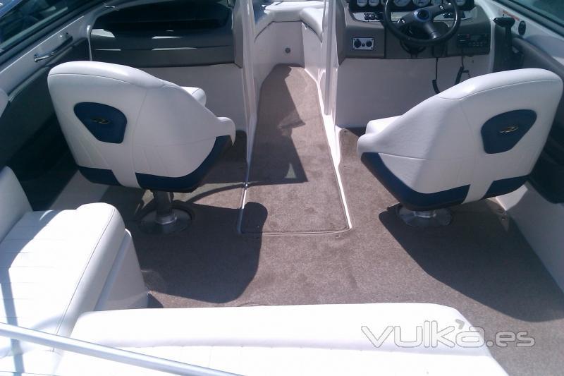 Instalación moqueta para embarcaciones