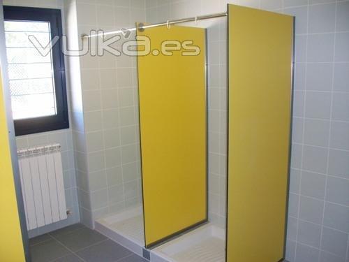 Cabinas De Baño Fenolicas:Separadores de ducha fabricados en compacto fenòlico