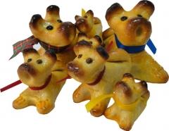 Familia de perritos elaborado con mazap�n