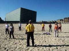 Trabajo corporal en la playa
