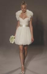 Elegante vestido de novia corto