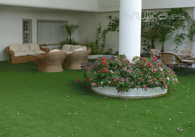 Decojard n c sped sint tico y dise o de jardines - Cesped artificial terrazas ...