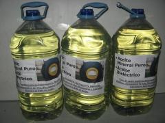 Garrafas de aceite mineral dielectrico.
