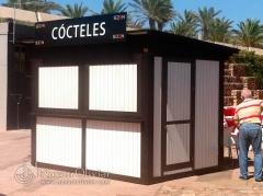 Caseta modular para chiringuito de cockteles